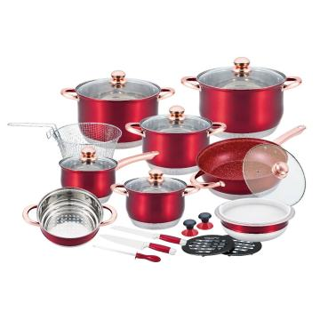 24PCS Cookware Set Stainless steel