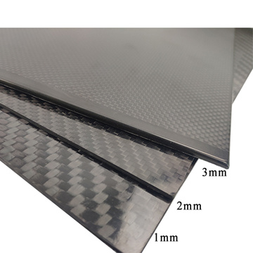 Real carbon fiber laminated sheet 1mm 2mm 3mm thickness carbon fiber sheet