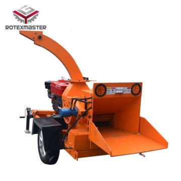 Mobile forest use wood shredder for branches