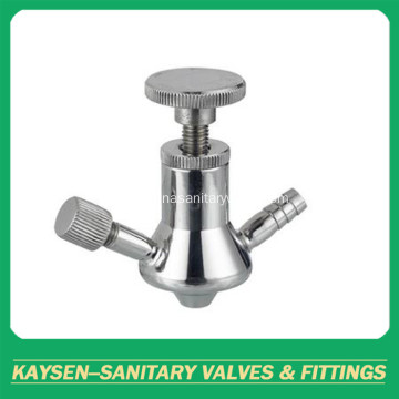 Sanitary grade aseptic sampling valves