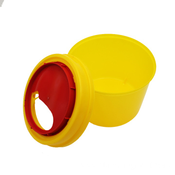 5L 10L yellow sharp bin container disposable