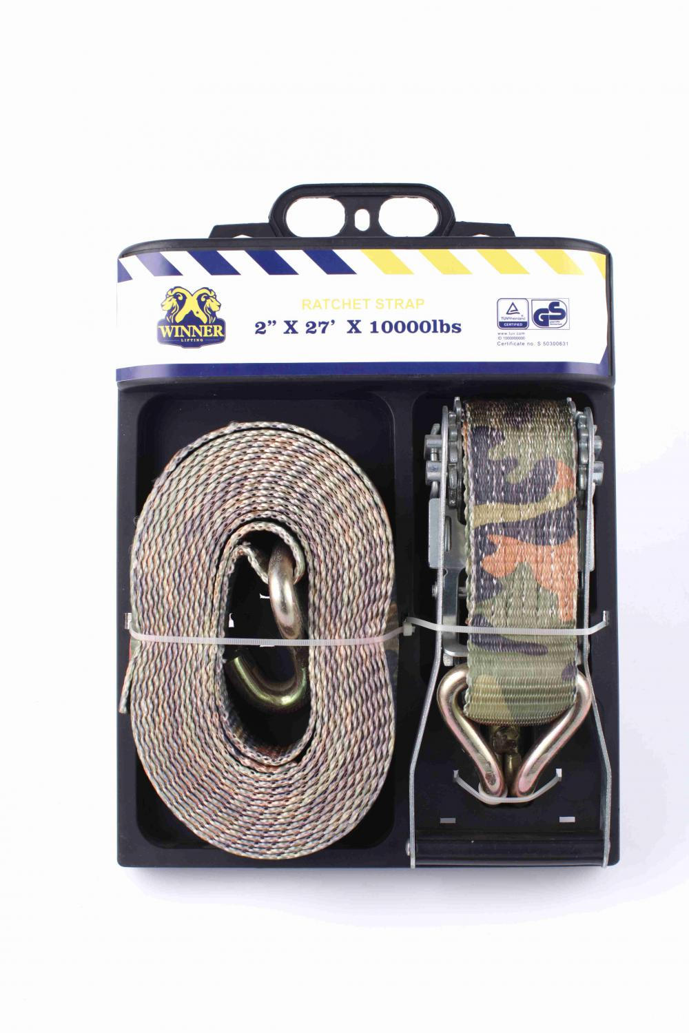 2''X27'Breaking Strength 11000lbs one Package Camo Ratchet Lashing Straps