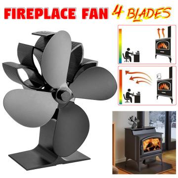 16x11x20cm Fireplace 4 Blades Heat Powered Stove Fan Log Wood Burner Ecofan Quiet Home Fireplace Fan Efficient Heat Distribution