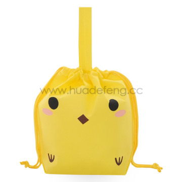 Yellow Non-woven Chick Party Handle Gift Packing Bag