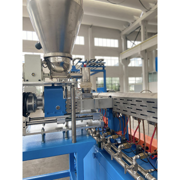 Compounding extruder for EPP micro pellets by Strand cutting system