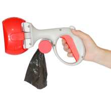 plastic dog pooper scooper with a handle