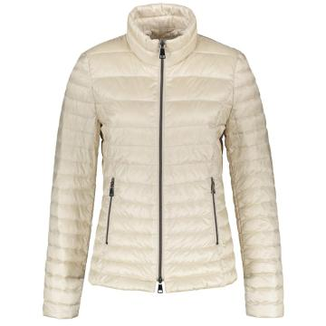 Ladies fake down jacket