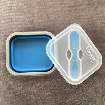 Collapsible food containers silicone bento box silk-screen