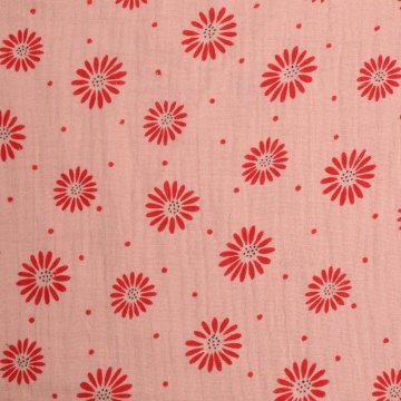 New Products For Chirdren Cotton Gauze Printed Fabric