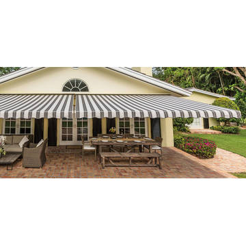 Retractable arms awning 3.0*2.0M Green/White Stripes