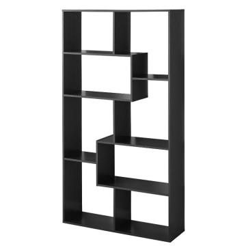 Modern Design Narrow Large Black Open Bookshelf