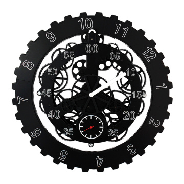 Reloj de pared Black Metal Big Gear