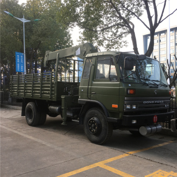 Dongfeng 8 ton military truck mounted crane