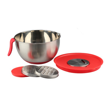 Stainless Steel Salad Bowl With Grater