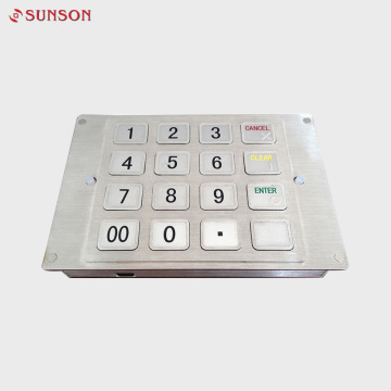 Hot Sales ATM Braille Pin Input Device Metal Pinpad