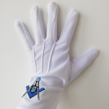 White Cotton Masonic Gloves
