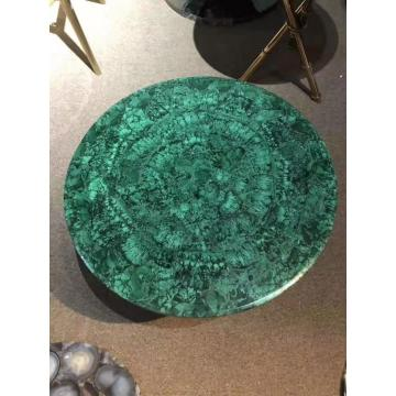 Malachite green side table