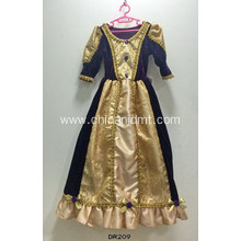 The purple and gold princess dress