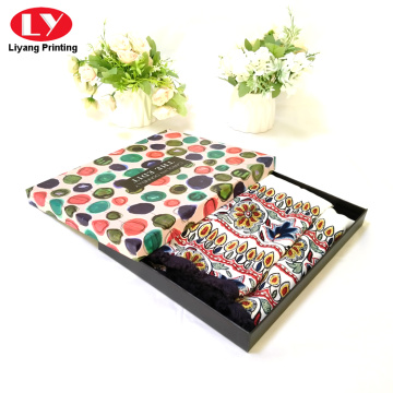Luxurious Custom box women cashmere scarf box packing
