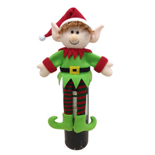 Christmas magic elf wine bottle cover bag