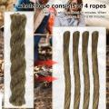 5/10PCS Tinder Rope Outdoor Drill Activity Kit Camping Tools Survival Development Training Camping Equipment Fire Tool