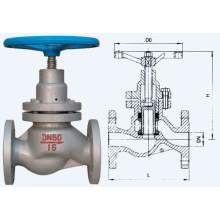 Cast Steel Rising Stem Resilient Seating Plunger Valve
