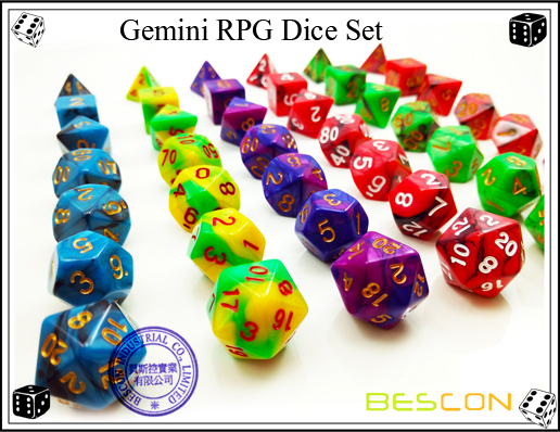 Gemini RPG Dice Set-3
