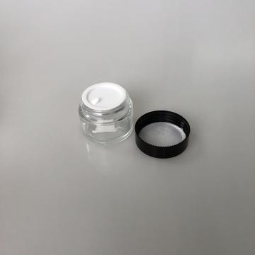 25ml clear column shape jar with cap