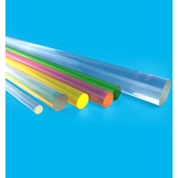 Cast Acrylic rod crystal color clear PMMA bar