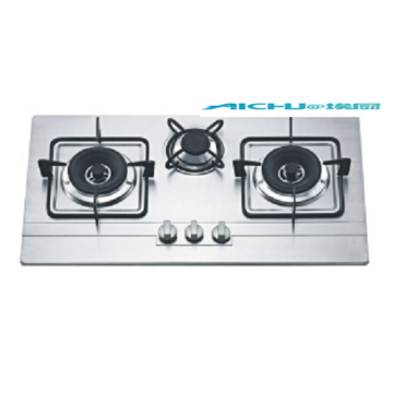 3 Burners Stainless Steel Firbox Gas Stove