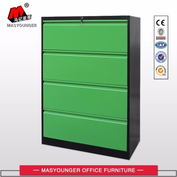 Colorful steel lateral 4 drawer file cabinets