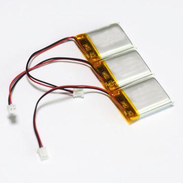 3.7V 500mAh li-polymer battery with PCM and connector