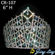 "6"" Custom rhinestone AB pageant tiaras and crowns"