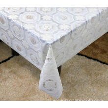 Printed pvc lace tablecloth by roll pillows