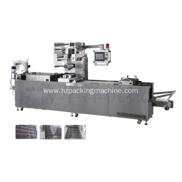 Continuous efficiency sausage thermoforming vacuum packing machine