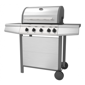 Four Burner Gas BBQ with Side Burner