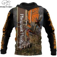 Pheasant Hunting 3D All Over Printed Hoodie Men Sweatshirt Unisex Streetwear Zip Pullover Casual Jacket Tracksuits KJ0235