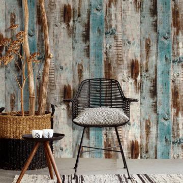 Waterproof PVC Self Adhesive Vinyl Wood Mura Wallpaper Roll for Living Room Kitchen Kids Room Bedroom Walls Wood Contact Paper