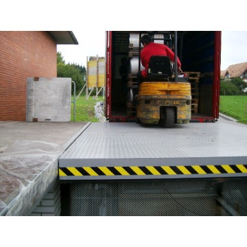 Loading dock lifts equipment