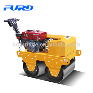 550Kg double drum hand vibratory roller compactor with water cooled diesel engine (FYL-S600)