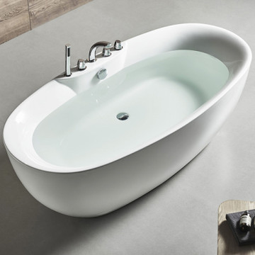 Indoor White Acrylic Shaped Bathtub For Bathroom