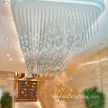 Modern  customizable banquet lobby rain drop chandelier