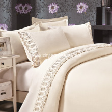 100% Polyester Microfiber Lace Sheet Set