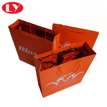 Large paper shopping bag with cotton handles