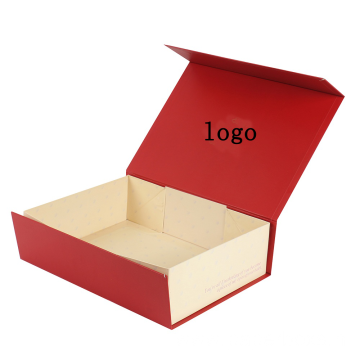 Handmade Red Foldable Christmas Gift Boxes