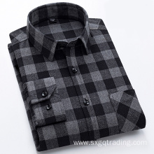 Long sleeve men's flannel shirt