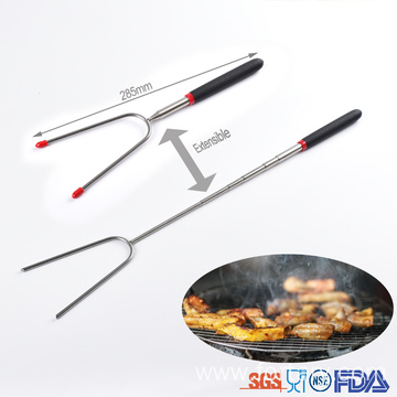 Extendable bbq skewer telescopic bbq fork