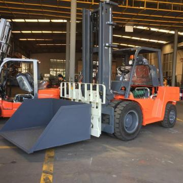 10.0 Ton Stone Forklift With Tipping Bin