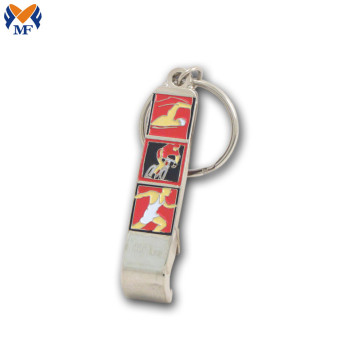 Metal Customized Logo Enamel Bottle Opener Keychain