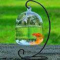 14.2 * 10 * 10cm Cute Transparent Fish Tank Glass Hanging Glass Aquarium Fish Bowl Flower Vase Creative Home Decor